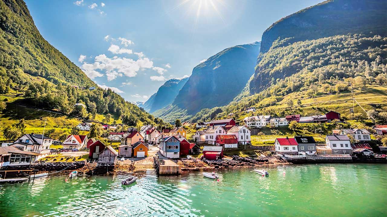 Fischerdorf Undredal Norwegen