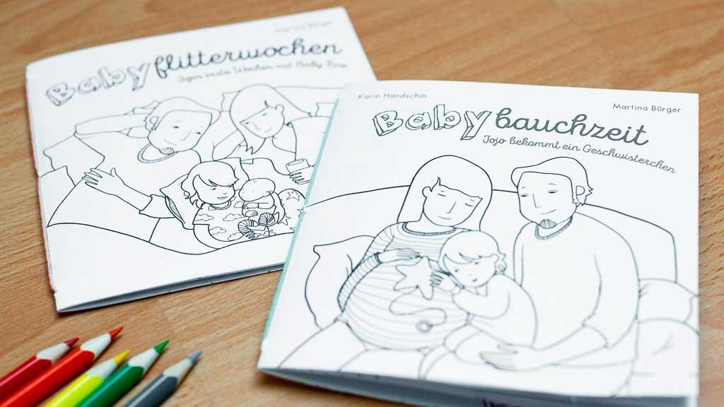 Büchlein «Babybauzeit» und «Babyflitterwochen»