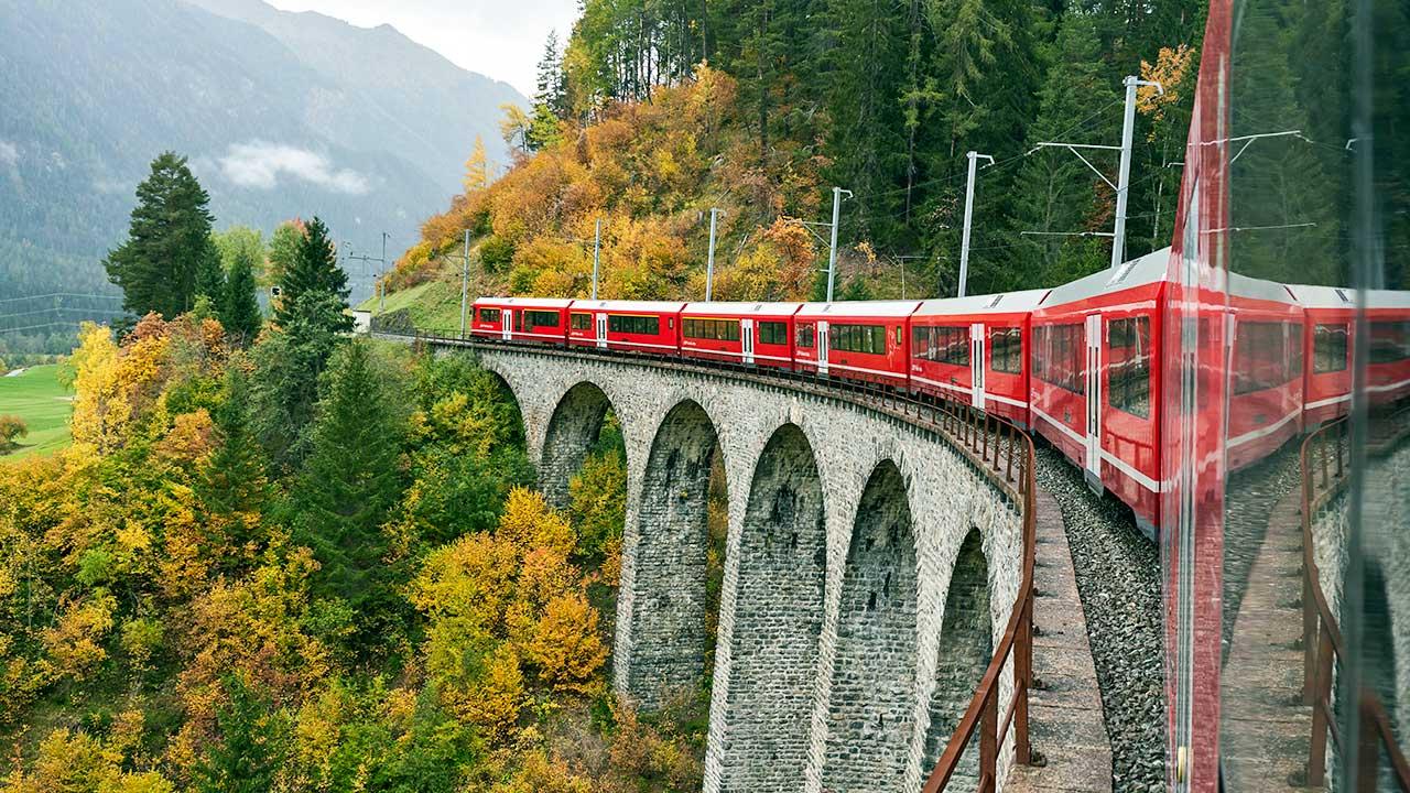 Albulabahn bei Bergün