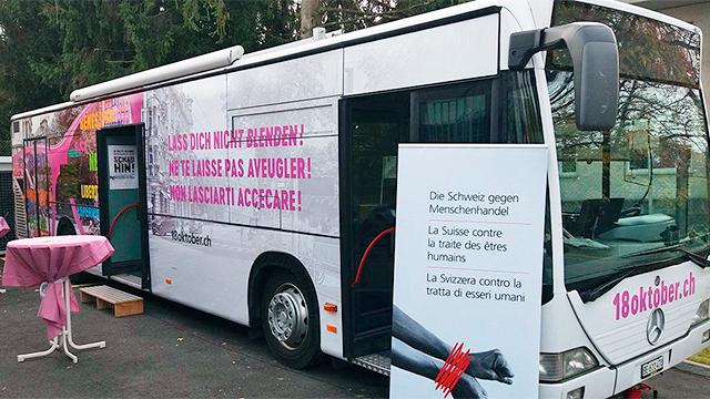 Informationsbus Menschenhandel