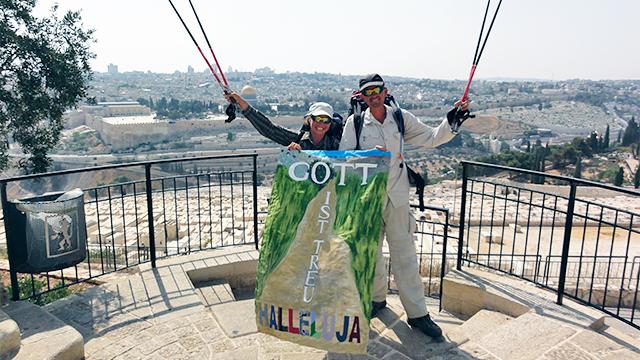 Annemarie und Hanspeter Obrist in Jerusalem