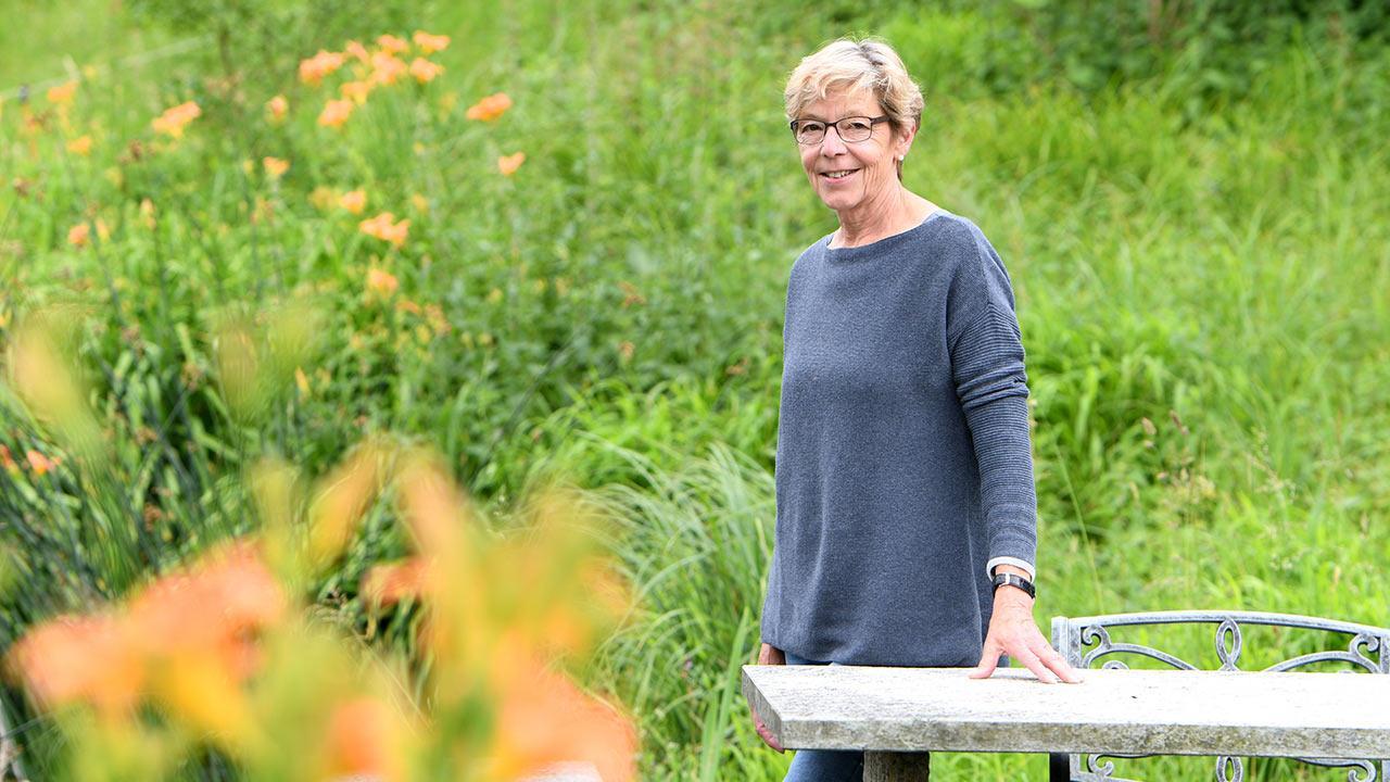 Elsbeth Abegg, pensionierte Pfarrerin und Airbnb Gastgeberin