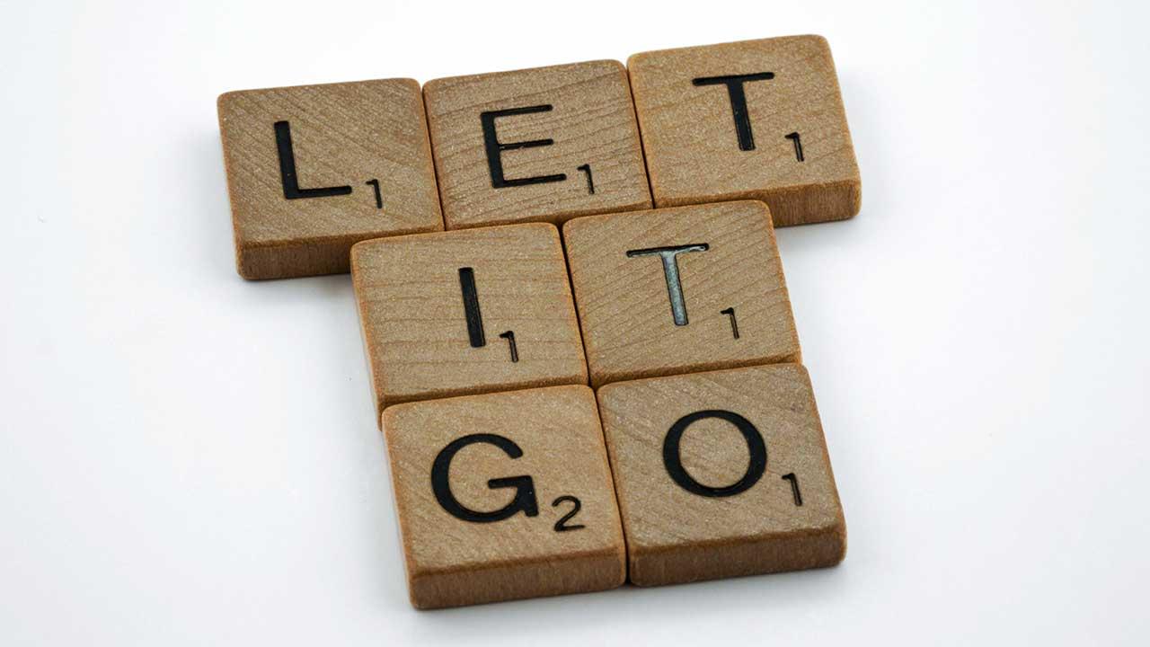 «Let It Go» mit Scrabble-Buchstaben geschrieben