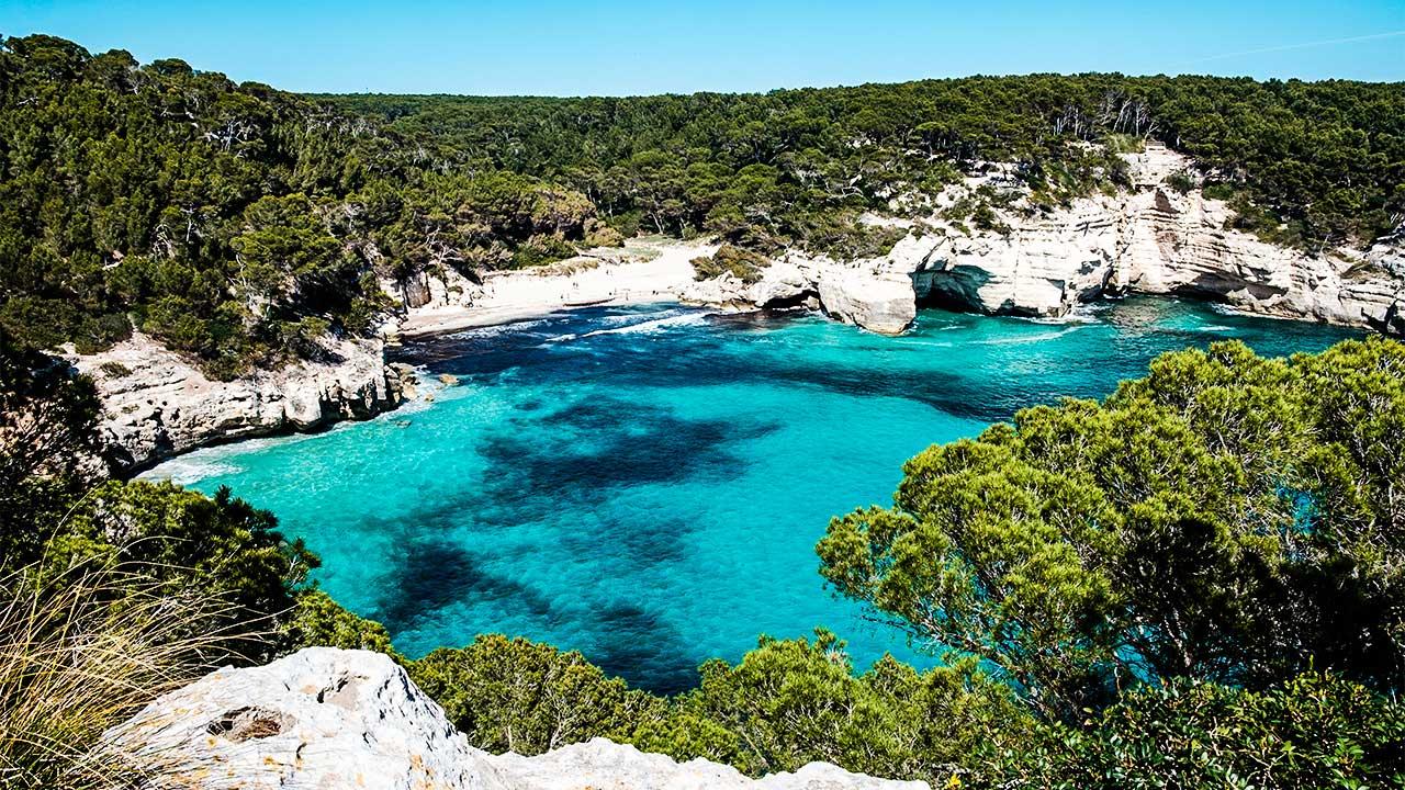 Küstenabschnitt in Menorca