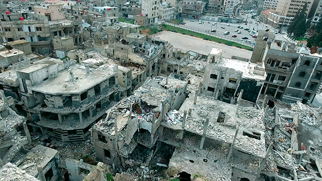 Ruinen in Homs, Syrien