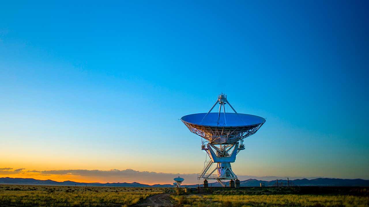 Radioteleskope in Socorro, New Mexico, USA