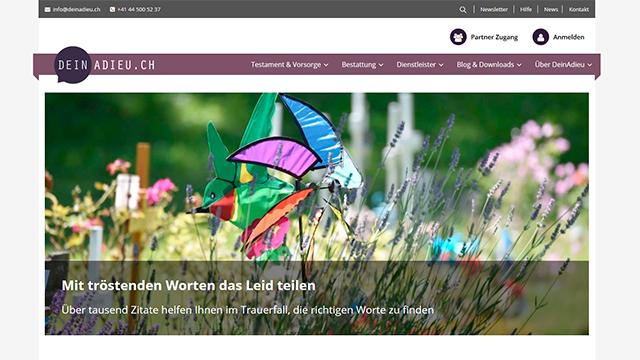 Website «DeinAdieu»