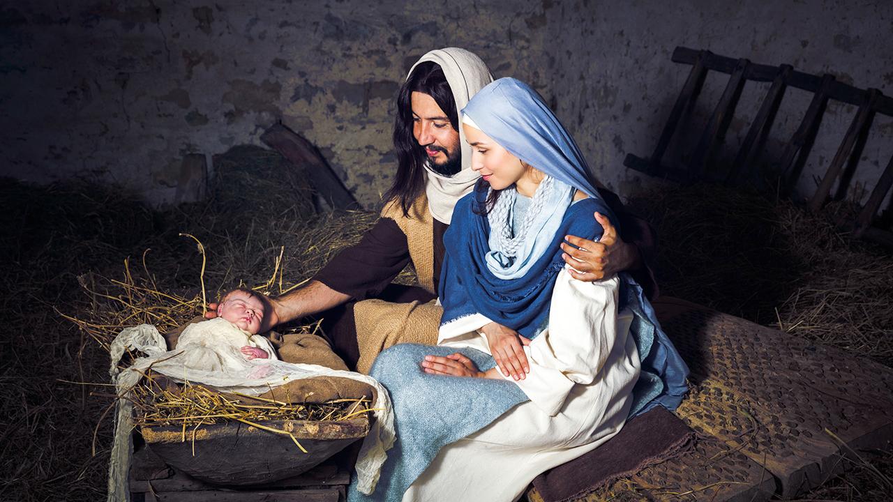 Geburt von Jesus im Stall