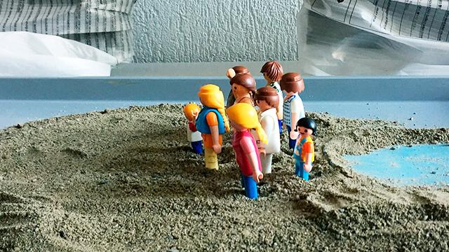 Playmobil-Figuren in Stop-Motion
