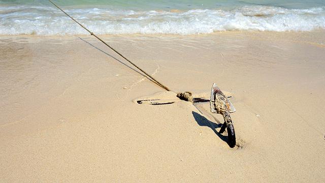 Anker im Sand