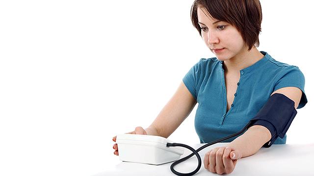 Am Blutdruck messen