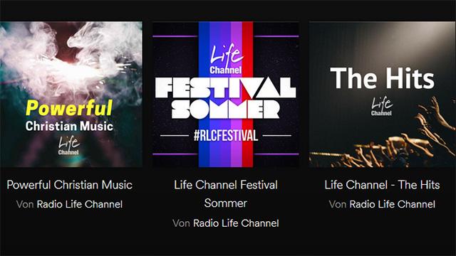 Playlists auf Spotify von Life Channel